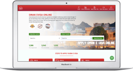Choose your living and citizenship country for Oman visa